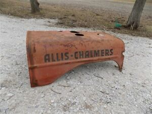 Allis Chalmers Hood Engine Cover Vintage Farm Tractor Parts Sign Steampunk