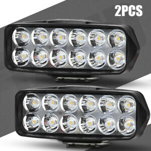 2x Motorcycle Dirt Bike Led Headlight Driving 12leds Fog Spot Light Lamp Car Atv
