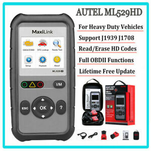 Autel Universal Heavy Duty Diesel Truck Diagnostic Scanner Tool Code Reader Hd