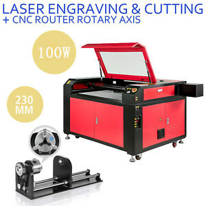 100w Laser Engraver Machine Rotary Axis Engraving Cutting Machine 900 600mm