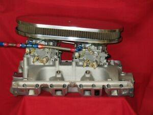 Ford Fe Dual Quad Med Rise Intake Manifold Set Up Blue Thunder Cj Port Edelbrock