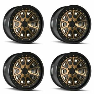 Set 4 20 Mayhem 8301 Flat Iron Black W bronze Tint Truck Wheels 20x9 6x135 0mm