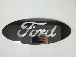 Huge 17 Custom Ford Oval Chrome Emblem Stud Mount