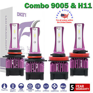 4pc 9005 H11 Led Headlight Bulbs 2800w Fit Ford F 150 Edge Escape Expedition