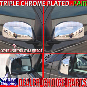 For 2005 2019 Nissan Frontier 05 15 Xterra Triple Chrome Mirror Covers Overlays