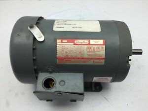 Dayton 3n017h 1 Hp Electric Motor 208 220 440v 1725 1425 Rpm H56h Fr 2 Speed