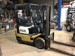 Tcm Fcg15t8t Forklift With Three Stage Mass And Side Shift Toyota Nissan Yale