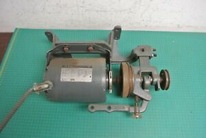 Columbia Mod 300xx Industrial Sewing Machine Motor With Clutch 110 V Under Table