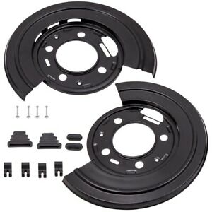Pair For Ford F 450 F450 Truck 2011 2014 Rear Brake Dust Shield Backing Plates