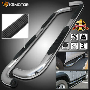 For 2006 2012 Jeep Commander Xk 7 3 Side Step Nerf Bars Running Boards Chrome
