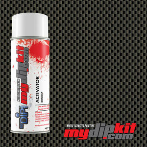 Hydrographics Activator Water Transfer Film Combo Black Silver Carbon Cf 020