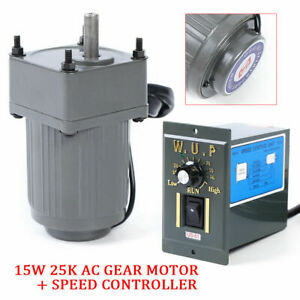 110v 15w 25k Ac Gear Motor Electric variable Speed Reduction Controller 54 0rpm