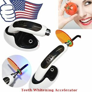 Cordless Wireless 1500mw Led Dental Curing Light Lamp teeth Whitening Resin Cure
