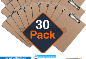 Clipboards set Of 30 By Office Solutions Direct Eco Friendly Hardboard Cli