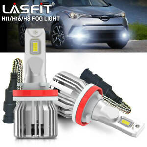 H11 H16 Led Fog Driving Light Bulb Cool White 6000k Lights Bulbs Kit Error Free