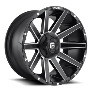 4 20x10 Fuel Matte Black Milled Contra Wheel 6x135 6x139 7 For Ford Jeep