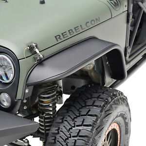 Fender Flares Rocker Guard Textured Steel Front Fits 07 18 Jeep Wrangler Jk