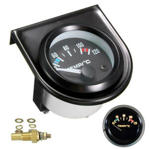 1 Pcs 2 52mm Car Digital Led Water Temp Temperature Gauge Meter With Sensor