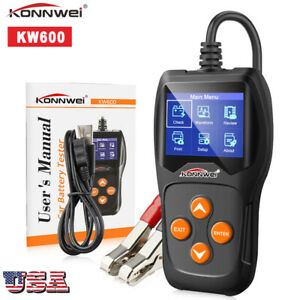 12v Load Digital Car Battery Analyzer Tester Multi Language Konnwei Kw600 X9c7