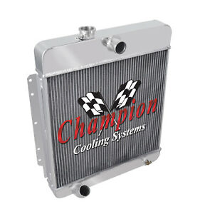 3 Row Perf Champion Radiator For 1949 1956 Cadillac Series 60s 61 62 75