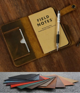 Writing Pads Collectibles Pen Holder Cow Leather Note Case Bag Customize B028