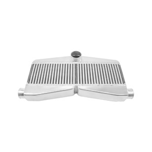 Front Mount Twin Turbo Bar Plate 2 In 1 Out Intercooler 27 5x13x3 5