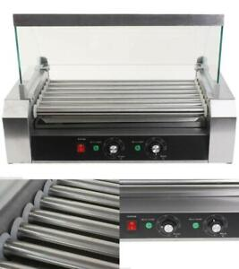 Electric Roller Sausage Grill 18 Hotdog 7 Roller Grill Cooker Commercial Machine