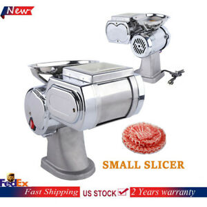 Electric Commercial Meat Cutter Machine Meat Slicer Cutting 55kg h 600w 1 7mm