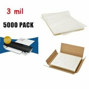 5000 Sheets Thermal Laminating Pouches 9 X 11 5 Letter Size 3 Mil For Laminator