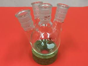 Ace Glass 250ml 4 neck Boiling Flask Round Bottom 24 40 Joints