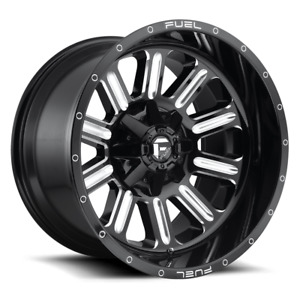 4 20x9 Fuel Gloss Black Mill Hardline Wheels 6x135 6x139 7 For Ford Jeep