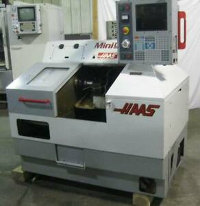 Haas Mini Lathe 2001 Rare Gang Tool Cnc Lathe Only 4300 Spindle Hours