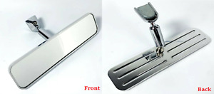 Universal Billet Ball Milled Grooved Interior Rear View Mirror Hot Rod Custom