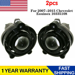 2x Projector Fog Light Lamp Replacement For 2007 2015 Chevrolet Equinox 10335108