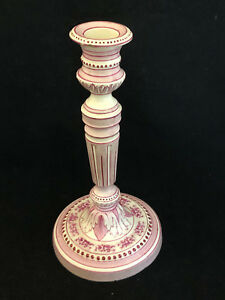 Gien Candleholder Antique Xix Th Century Rare Antique French Candlestick 19th