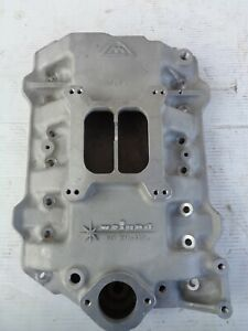 Nos Weiand Dodge Plymouth Chrysler 318 Poly Aluminum 4 Barrel Intake Manifold