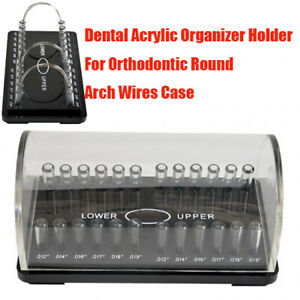 Dental Acrylic Organizer Holder For Orthodontic Round Arch Wire Case Storage Box
