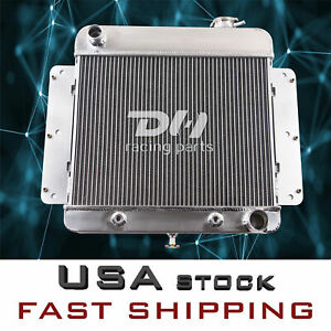 3 Row Aluminum Radiator For 1962 1967 Chevy Ii V8 Nova I6 1963 1964 1965 1966