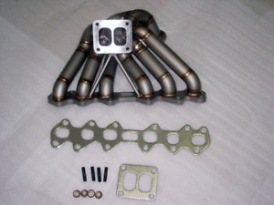 Hp series Equal Length T4 Turbo Manifold Type 2 For Toyota Supra 2jzgte 3 1mm