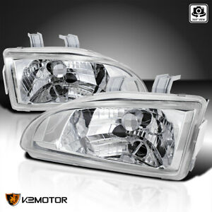 For 1992 1995 Honda Civic Eg Eh Ej Clear Headlights Head Lamps Left Right Pair