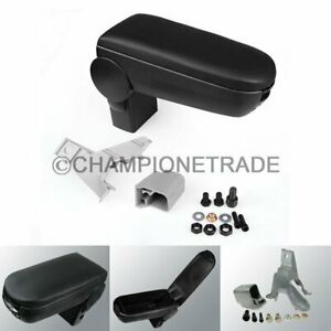 Black Leather Center Console Armrest For 99 04 Vw Jetta Bora Golf Mk4 R32 Gti