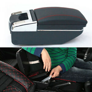 Universal Car Central Container Armrest Box Pu Leather Center Storage Case Parts