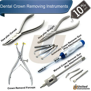 Dental Crown Removing Instruments Kit Automatic Crown Removal Forceps How Pliers
