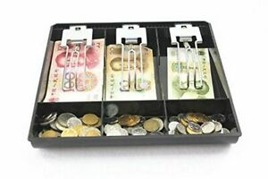 Cash Register Drawer Box Store Cashier Money Counter Tray 3 Compartments Case