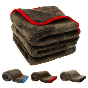 Car Home Thick Microfiber Cloth Polishing Detailing Drying Towel Rags 1200gsm