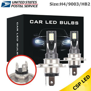 2x H4 Led Headlight 50w 14000lm Fog Lights Kit Car Bulbs 6000k Driving Drl Lamp