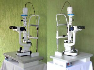 Gss Slit Lamp 5 Step Magnification With Beam Splitter And Ccd Camera And Supply