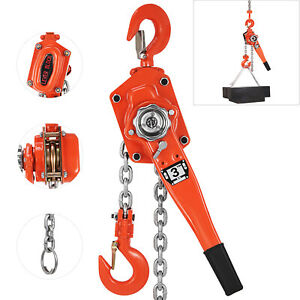 3ton 6600lbs 20ft Ratcheting Lever Block Chain Hoist Come Along Puller Pulley