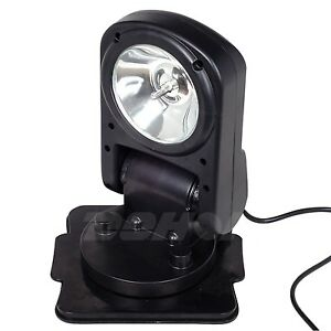 55w 12 Volt 360 Hid Xenon Search Light Fold Spot Remote Cigarette Lighter Atv