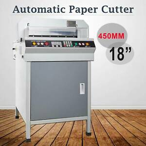 18 450mm Electric Paper Cutter Adjustable Cutting Machine Power off Protection
